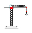 construction crane with hook vector image