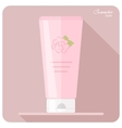 Cosmetic tube vector image