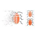 disintegrating dot halftone cockroach icon vector image