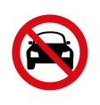 dont parking signal icon vector image vector image