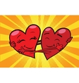 Eternal love red hearts Valentines vector image vector image