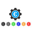euro settings icon vector image vector image