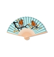 Fan for kabuki dance Geisha accessories vector image vector image