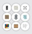 flat icon play set of bones game backgammon dice vector image vector image