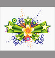 flower ornaments vector image vector image