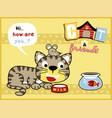 funny pets cartoon vector image