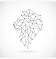 geometric lion silhouette image of lion vector image vector image