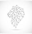 Geometric lion silhouette image of lion