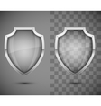 Glass Transparent Shield vector image vector image