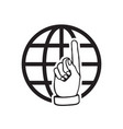 go to web icon internet flat for website on white vector image