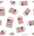 hang tag made in california with flag seamless vector image vector image