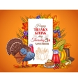 Happy Thanksgiving Day greeting vector image vector image