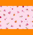 happy valentine day seamless pattern holiday vector image