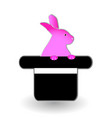 hat trick with rabbit icon vector image vector image
