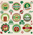 healthy natural label vector image