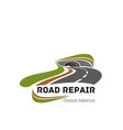 icon for road repair or consturction vector image vector image