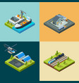 logistic concept cargo transport shipping flying vector image vector image