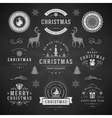 merry christmas and happy new year wishes vector image vector image
