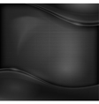 Metal black background vector image