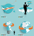 Modern infographics template style with plane vector image vector image