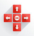 Navigation buttons vector image