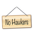 no hawkers sign vector image vector image