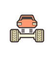 off road truck icon vector image vector image