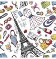 Paris France fashion seamless patternSummer vector image vector image