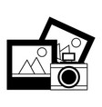 photography camera device pictures vector image