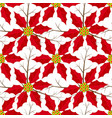 poinsettia christmas flowers seamless pattern vector image vector image