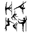 pole dance woman gesture silhouette vector image vector image