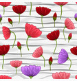 seamless pattern with romantic flowers elements vector image vector image