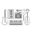 set professional equipment to play in the music vector image