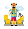 Sports fan Flat style colorful Cartoon vector image vector image