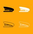stapler black and white set icon vector image