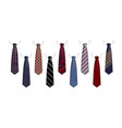 tie suit icon set realistic style vector image vector image