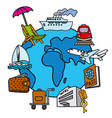 travel concept icon vector image vector image