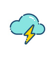weather thunderstorm icon outline vector image vector image