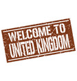 welcome to united kingdom stamp vector image vector image