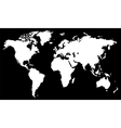 White world map vector image vector image