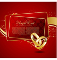with wedding rings vector image vector image