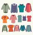 womens shirts and colorful female t-shirts vector image