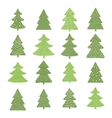 Set of hand drawn christmas trees vector image