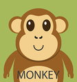Cute brown monkey cartoon flat icon avatar vector image