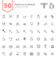Healthcare and Medical Line Icon Set vector image
