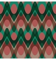 Simple christmas scalloped circle seamless pattern vector image