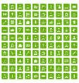 100 hairdresser icons set grunge green vector image vector image