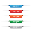 80 percent off paper tag labels vector image vector image