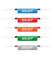 80 percent off paper tag labels vector image vector image