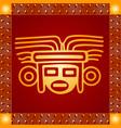 american indians maya and aztec symbolic vector image